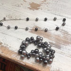 Jewelry - Faux pearl bracelet and necklace set Silver